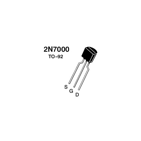 2N7000 MOSFET, N CHANNEL, 200MA, 60V, TO-92