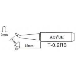AOYUE T-0.2RB Ersatz Lötspitze oval/gebogen