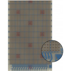 Prüfungsplatine 100 x 160 mm 1,5 mm Epoxyd 35 µm Kupferauflage
