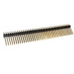 Stiftleiste 2 x 40 pol. gerade RM 2,54 mm Länge 17,8 mm